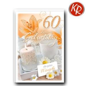 Faltkarte zum 60. Geburtstag  45-9260