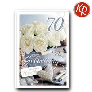 Faltkarte zum 70. Geburtstag  45-9270