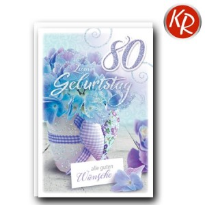 Faltkarte zum 80. Geburtstag  45-9280