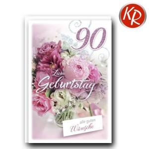 Faltkarte zum 90. Geburtstag  45-9290