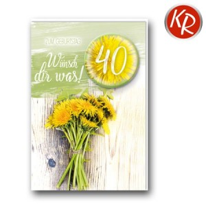 Faltkarte zum 40. Geburtstag  45-9840