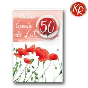 Faltkarte zum 50. Geburtstag  45-9850