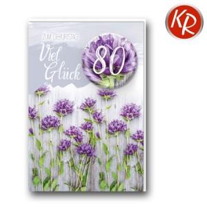 Faltkarte zum 80. Geburtstag  45-9880