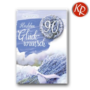 Faltkarte zum 90. Geburtstag  45-9890