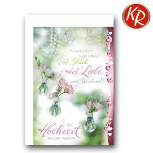 Faltkarte Hochzeit  51-0175