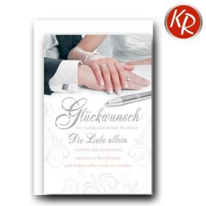 Faltkarte standesamtliche Hochzeit  51-0177