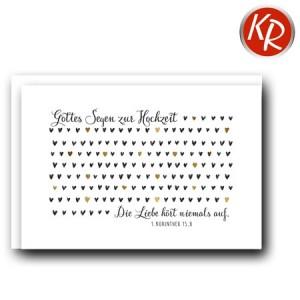 Faltkarte Hochzeit  51-0189