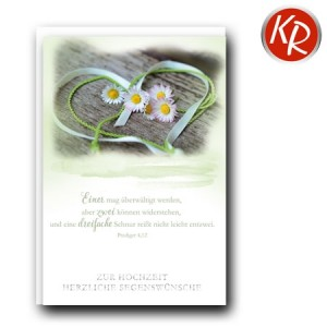 Faltkarte Hochzeit  51-0230