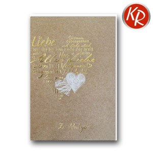Faltkarte Hochzeit  51-0239