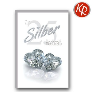 Faltkarte Silberhochzeit 52-0054