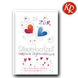 Faltkarte Silberhochzeit  52-0058