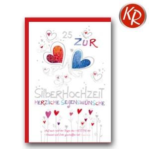 Faltkarte Silberhochzeit  52-0059