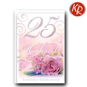 Faltkarte Silberhochzeit 52-0061