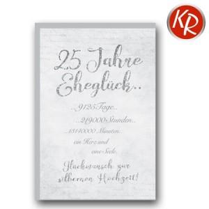 Faltkarte Silberhochzeit 52-0064