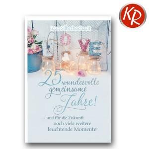 Faltkarte Silberhochzeit 52-0071