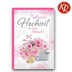 Faltkarte Silberhochzeit  52-0073