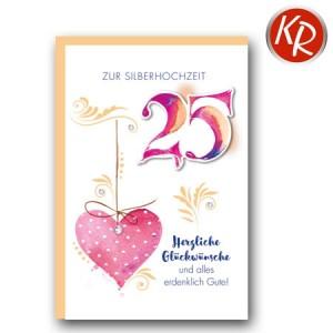 Faltkarte Silberhochzeit  52-0075