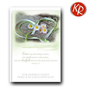 Faltkarte Silberhochzeit  52-0076