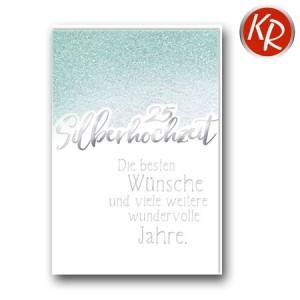 Faltkarte Silberhochzeit 52-0077
