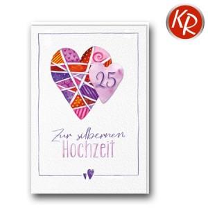 Faltkarte Silberhochzeit  52-0078