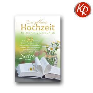 Faltkarte Goldhochzeit 53-0061