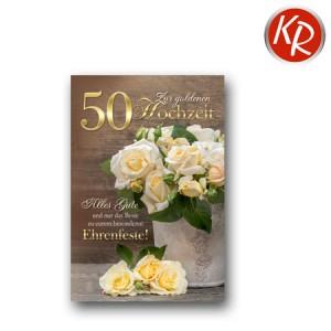 Faltkarte Goldhochzeit 53-0075