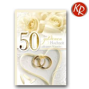 Faltkarte Goldene Hochzeit 53-0082