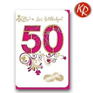 Faltkarte Goldene Hochzeit 53-0083