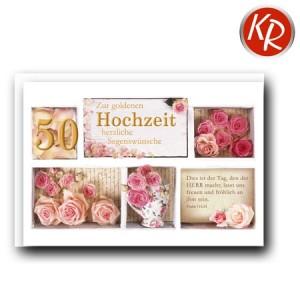 Faltkarte Goldene Hochzeit 53-0091