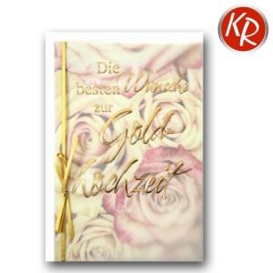 Faltkarte Goldene Hochzeit 53-0093