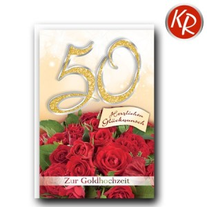 Faltkarte Goldhochzeit 53-0094