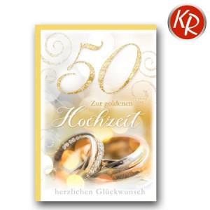 Faltkarte Goldene Hochzeit 53-0095