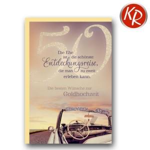 Faltkarte Goldene Hochzeit 53-0096