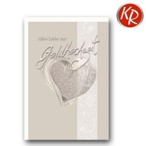 Faltkarte Goldene Hochzeit 53-0097