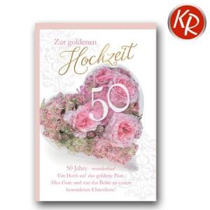 Faltkarte Goldene Hochzeit 53-0099
