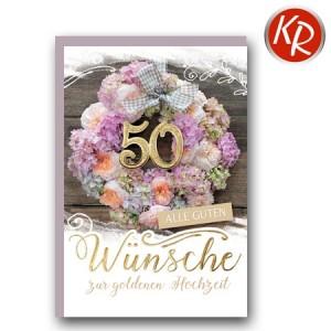 Faltkarte Goldene Hochzeit 53-0100