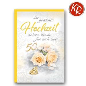 Faltkarte Goldene Hochzeit 53-0111