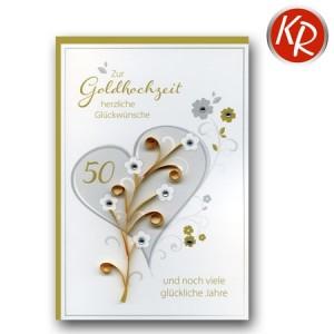 Faltkarte Goldene Hochzeit  53-0112