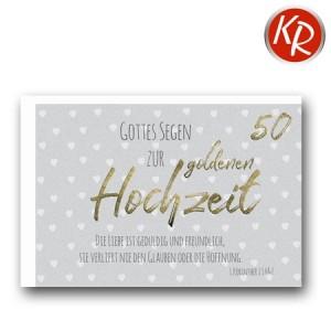 Faltkarte Goldene Hochzeit 53-0113