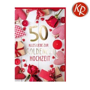 Faltkarte Goldene Hochzeit 53-0119