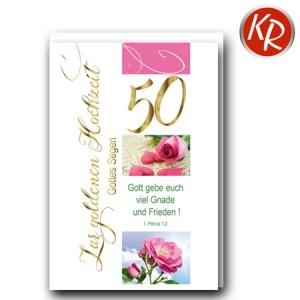Faltkarte Goldene Hochzeit 53-0123