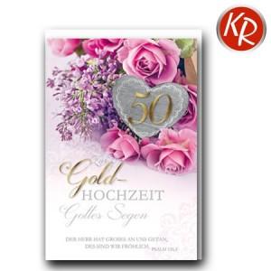 Faltkarte Goldene Hochzeit 53-0124