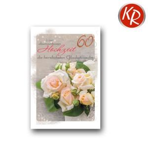 Faltkarte Diamanthochzeit 54-0034