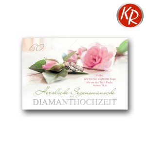 Faltkarte Diamanthochzeit 54-0039