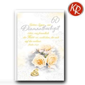 Faltkarte Diamanthochzeit 54-0047
