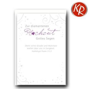 Faltkarte Diamantene Hochzeit 54-0049
