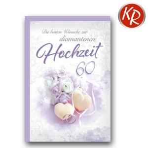 Faltkarte Diamanthochzeit 54-0050