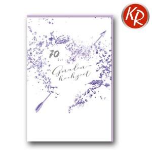 Faltkarte zum 70. Hochzeitstag Gnadenhochzeit 56-0047