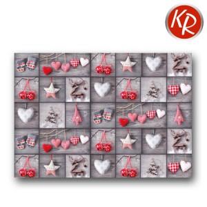 25 Geschenkpapier Bogen Herzen und Sterne 70-0047