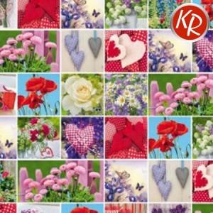 Geschenkpapier Blumen&Herzen 70-0071